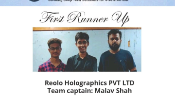 Computer Engineering Department Students  and LDCE SSIP Project Reolo has secured second position in National level HACK AND REBOOT Competition organized by IIT,Kanpur.