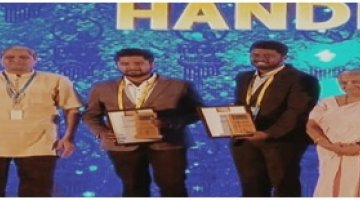 Infosys Award to LDCE Startup of Mechanical Engineering student Sumanth Mudaliar